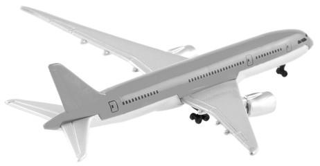 maquette avion en noir et blanc
