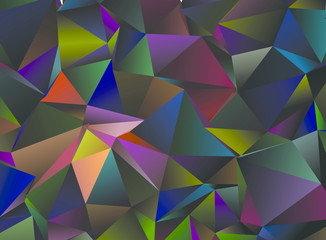 Abstract low poly background. Vector clip art.
