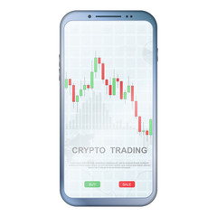 Crypto trading colorful phone