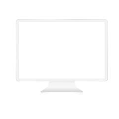 White digital monitor