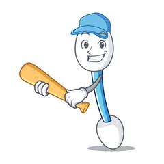 Playing baseball cotton swab character cartoon