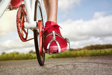 Sportlich modernes Fahrrad