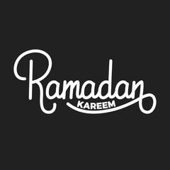 Ramadan Kareem. Muslim holiday lettering design for Ramadan holy month