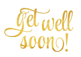 Get well soon! - lettering