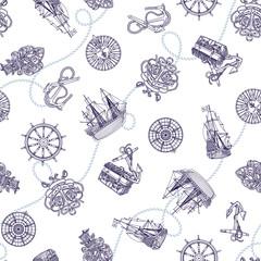 帆船イメージパターン,