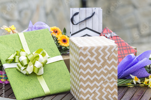 Packed Gifts And Surprises For Birthday Wedding Or Other Holiday Gift Bags Packs A Big Bunch Of Presents