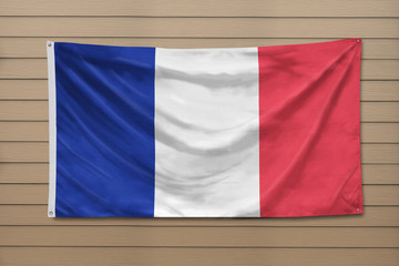 France Flag hanging on a wall