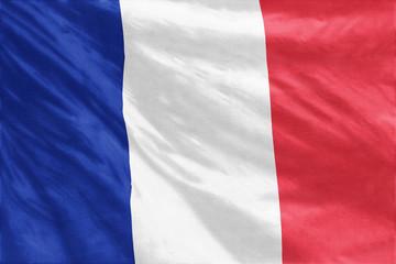 Flag of France full frame close-up