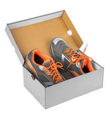 Sport sneakers in box