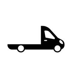 wrecker truck, evacuator car service, car towing truck. flat icon