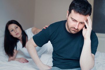 Woman trying to make peace with her boyfriend after fight
