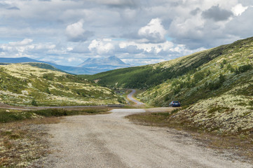 View of the Storsolnkletten mountain, Norway