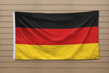 Germany Flag hanging on a wall