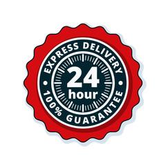 24 Hour Express Delivery illustration