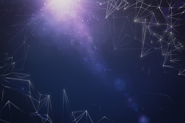 Abstract polygonal space backdrop