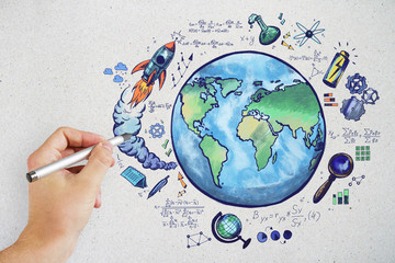 Science and eco background