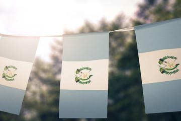 Guatemala flag pennants