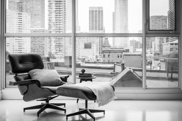 Reclining chair in modern room