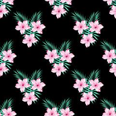 floral pattern on black