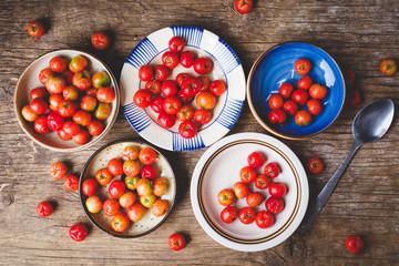 Babados cherry fruits-Malpighia glabra fruits
