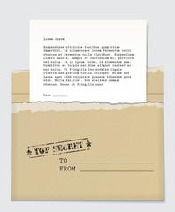 Fototapeta Top secret letter obraz