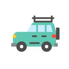 travel car  simple flat icon