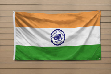 India Flag hanging on a wall