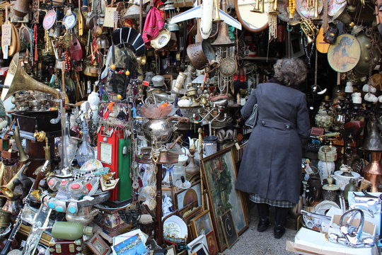 Mercado tradicional en Grecia