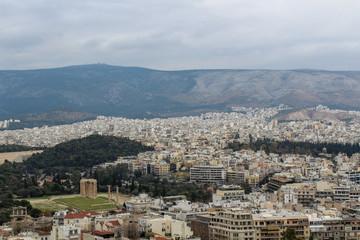 Panorámica de la ciudad de Atenas