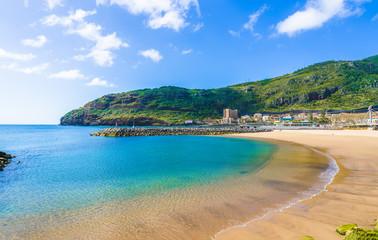 Wall Mural - Beach on Machico bay, Madeira Island, Portugal