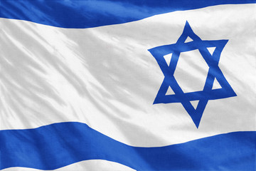 Flag of Israel full frame close-up