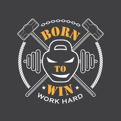 Workout and Fitness emblem