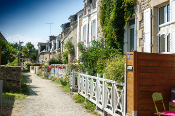 Houses in a row, Brittany, France, Europe