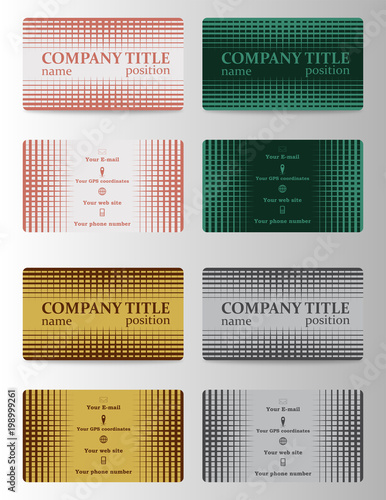 Personal Business Cards Set Stock Image And Royalty Free Vector