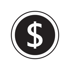 Money flat icon black color, money concept