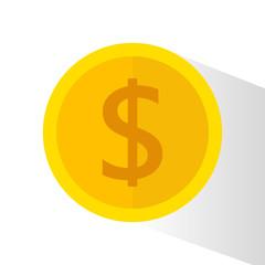 Money flat icon, money concept
