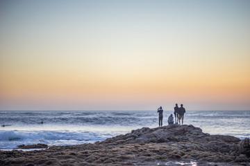 Surfing Paradies El Cotillo auf Fuerteventura zum Sonnenuntergang