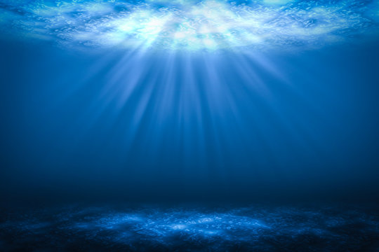 Sunbeam Abstract underwater backgrounds in the sea.