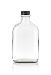Blank packaging clear glass bottle include aluminum black cap