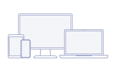 Device and gadget line art set.