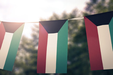Kuwait flag pennants
