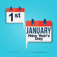 calendar : 1 january (new year's day)