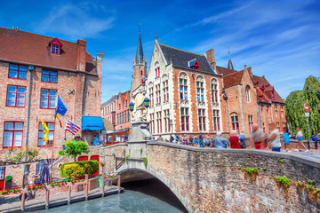 Wall Murals Bridges Canals of Brugges, Belgium