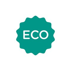 eco sign, eco friendly flat vector icon. Modern simple isolated sign. Pixel perfect vector  illustration for logo, website, mobile app and other designs