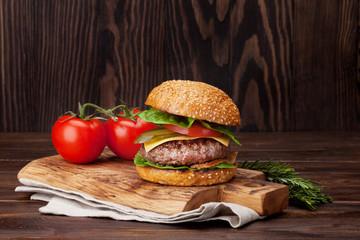 Tasty grilled home made burger