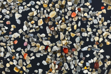 Extreme close-up of the coral sand grains