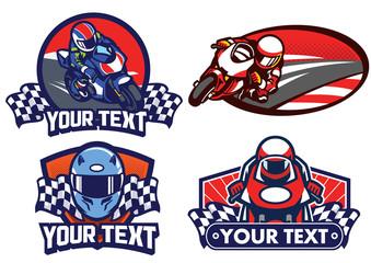 badge design motorcycle race