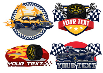 badge design muscle car