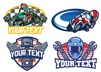 motorbike racing badge design