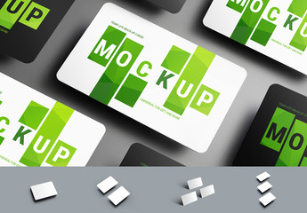 5 Gift/Bank Card Mockup Layouts
